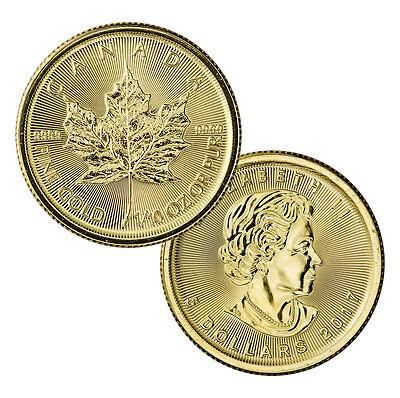 2017 Canada  5 1 10 Oz  Gold Maple Leaf  Sealed In Mint Plastic  Sku44190