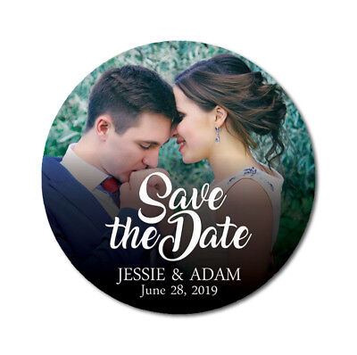 Darling Souvenir Personalized Round  Labels Save The Date Stickers-DS-SD211A (Personalized Souvenirs)