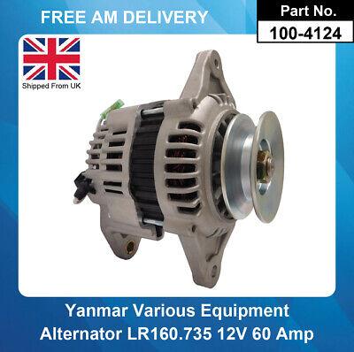 Yanmar Alternator  LR160-735 123900-77210 3TG66 3TG72 100-4124