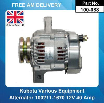 Alternator For Kubota F3680 2006-2013 100211-1670 16791-64011 100211-4520