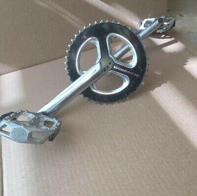 "GT PC LOGO Old School BMX Bike Pedal 9//16/""  3 Piece Cranks fits haro gt redline"