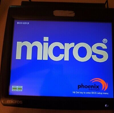 Micros Workstation Pos 5a Ws5a 15 Touch Terminal With Base Stand Point Of Sale