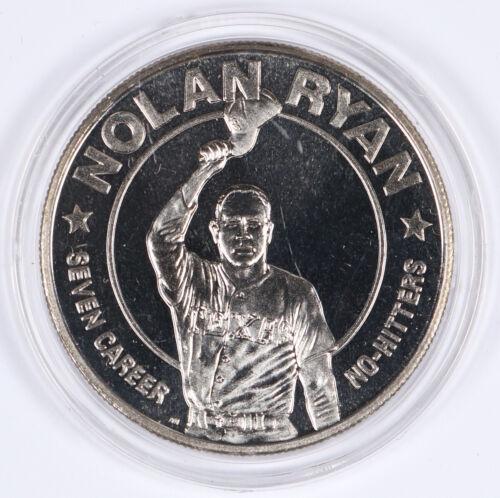 1993 Republic of Liberia Nolan Ryan $1 Coin Texas Rangers MLB 38.6mm BU Unc