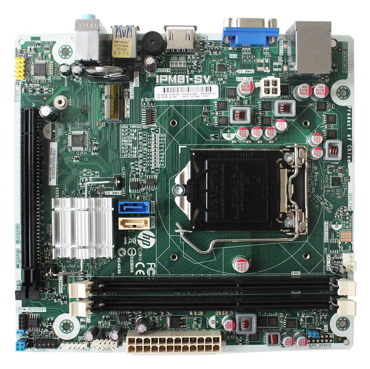 Details about For HP IPM81-SV REV:1 01 822766-001 Desktop motherboard  822766-601 LGA1155 DDR3
