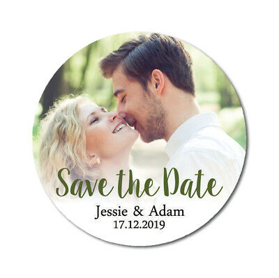 Darling Souvenir Personalized Photo Labels Save The Date Stickers-DS-SD208A (Personalized Souvenirs)