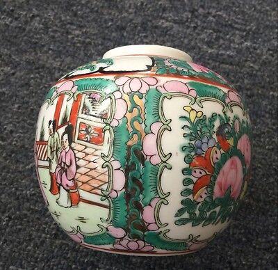 中国老旧广彩瓷茶叶罐China 's old wide - color porcelain tea pots