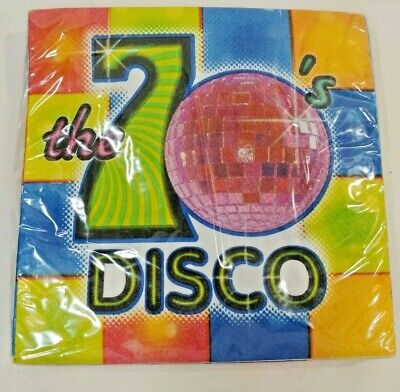 DISCO Ball 70s Flash Fever Dance Party Mid Century Paper Lg Dinner NAPKINS 3 ply](Cheap Disco Ball)