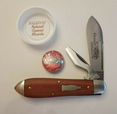 GEC Great Eastern Cutlery Tidioute 85 Crown Lifter Natural Canvas Micarta 852221