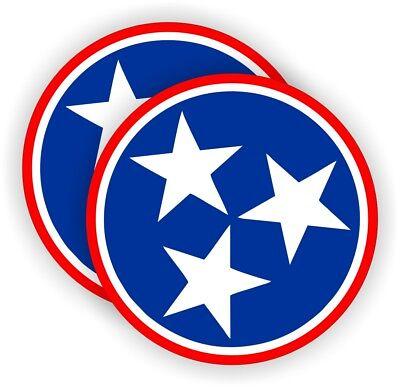 2 Tennessee Stars Hard Hat Stickers Motorcycle Welding Helmet Decals Star Usa