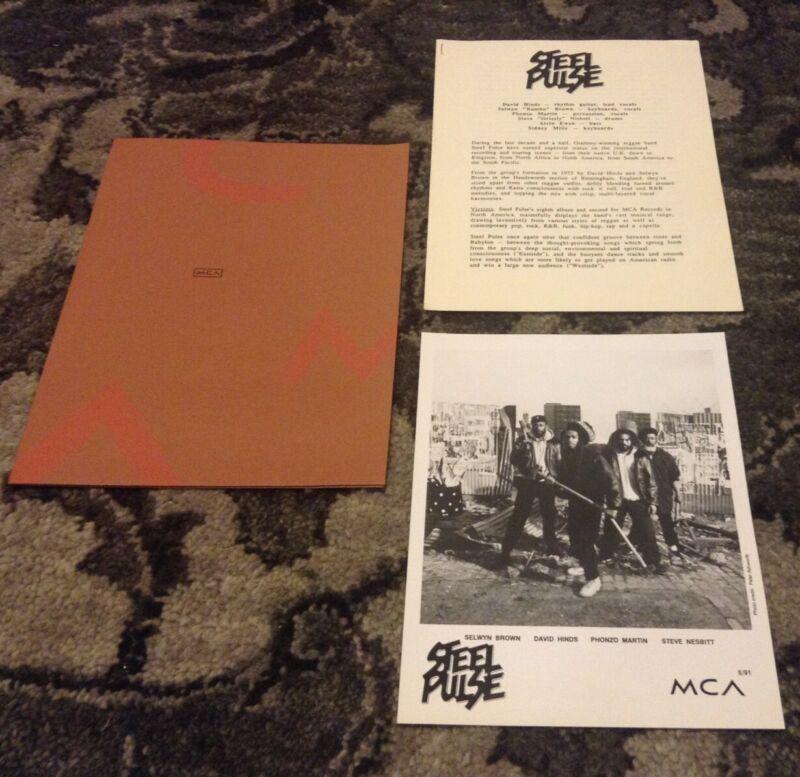 STEEL PULSE RARE 1991 ORIGINAL Victims MCA PRESS KIT PHOTO REGGAE