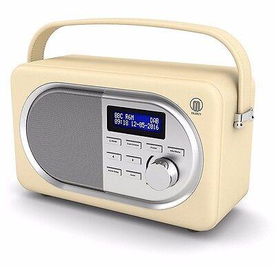 Shelford Compact Portable Digital DAB+ / DAB FM Radio Leather Effect Finish