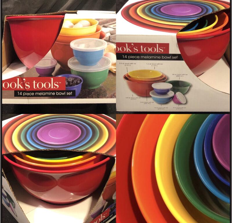 Cooks Tools 14 Piece Rainbow Bowl Set w/ Lid