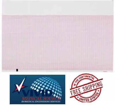Ecg Ekg Thermal Paper Mortara Eli 350 Eli250 Z-fold Rolls 1 Pack Of 200 New