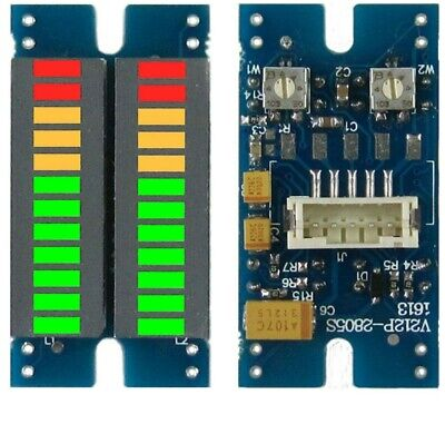 Stereo Vu Meter Indicator Music Spectrum Analyzer 2x12 Segment Led Level Display