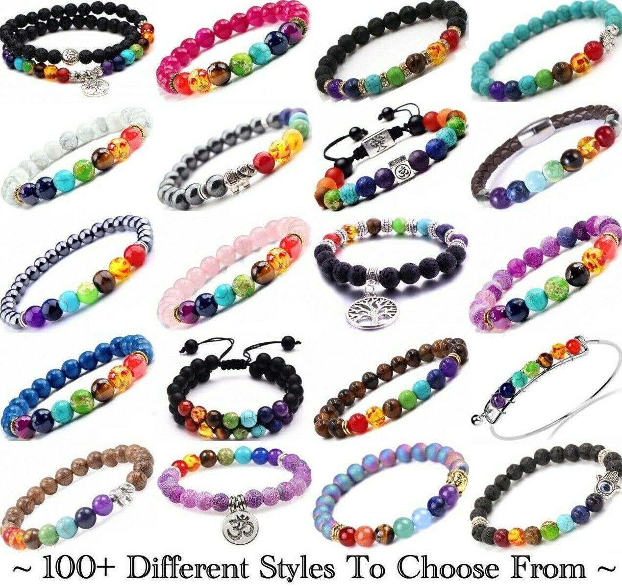 Jewellery - 7 Chakra Bracelet Crystal Jewellery Healing Stones Balance Reiki Anxiety Stress