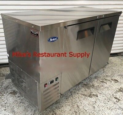 59 Back Bar Beer Cooler 2 Door Atosa Mbb59 New 6778 Solid Stainless Steel Nsf