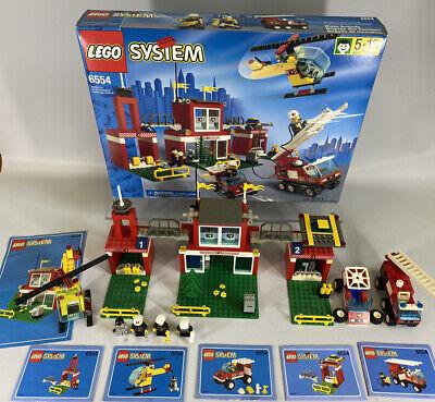 Vintage Lego Set 6554 Blaze Brigade Firemen Mini Figures Box Near Complete 1997
