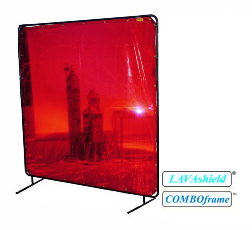 Low-Visibility LAVAshield® Welding Screen Curtain - 6