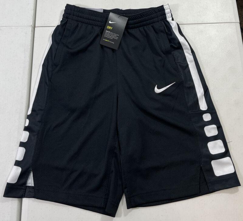 Youth Nike Elite Stripe Dri Fit Basketball Shorts Black AT3072 010 Size Large
