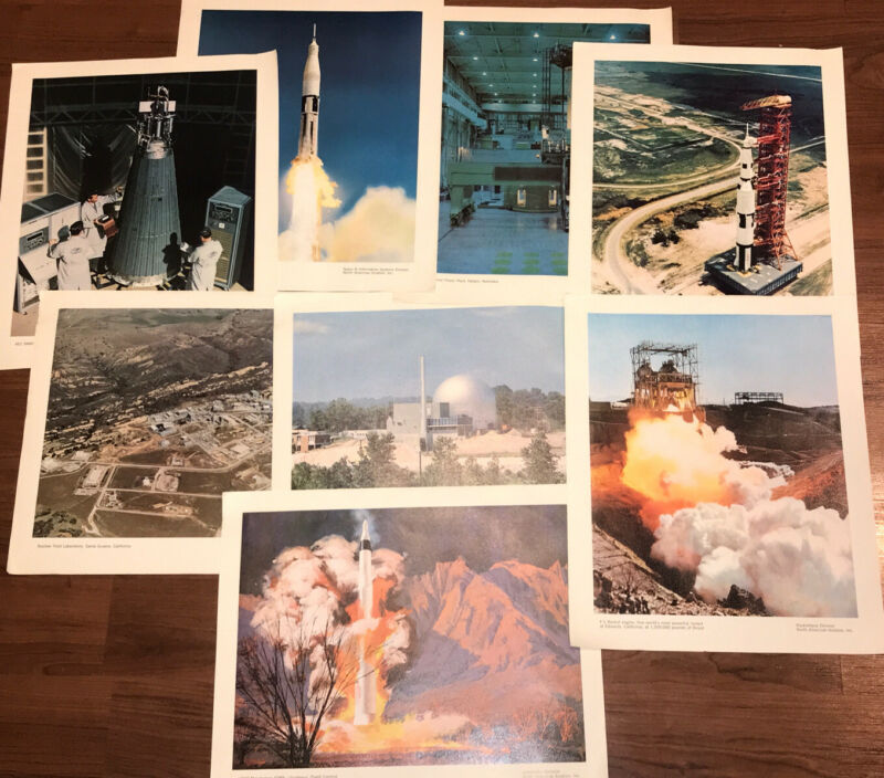 Vintage (8) NORTH AMERICAN AVIATION Inc: 12 X 15 PRINTS NASA/Nuclear Division