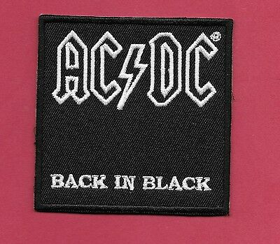 "New AC/DC 'Back in Black"" 3 X 3 "" Inch Iron on Patch Free Shipping"