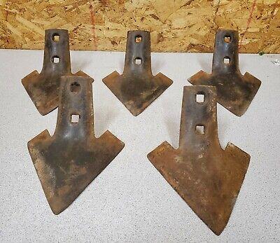 5 Vintage Oliver 230211 Field Cultivator Shovel Sweeps Parts