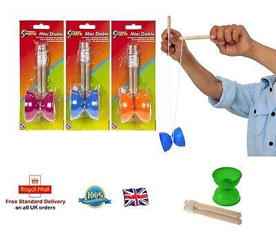 MINI DIABOLO Trick Set Traditional Game Juggling Diabolo Boys Toy Gift Present