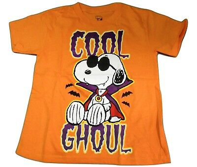 Peanuts Youth Snoopy Cool Ghoul Halloween Shirt New Size S (6-7)](Snoopy Halloween Shirt)