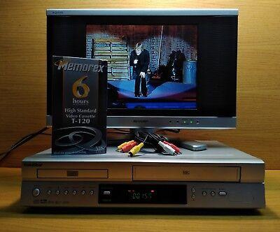 GoldStar VM681M Combo Unit DVD Player + VCR Recorder / Player. Dolby Digital  (Digitale Vcr-recorder)
