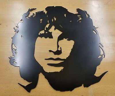 Jim Morrison metal wall art plasma cut home decor gift idea the doors rock roll](Door Decoration Ideas)