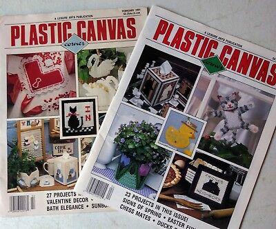 2 1991 plastic canvasis corner magazines. Feb. And April .
