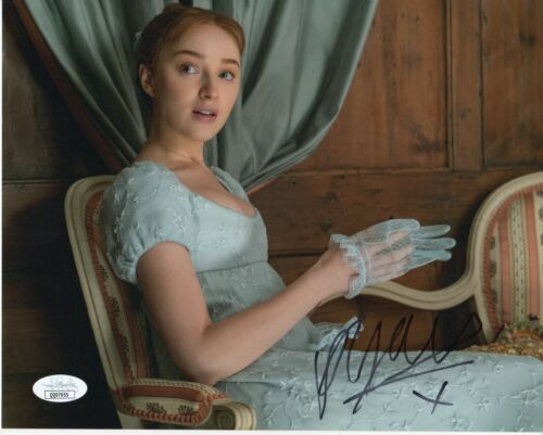 Phoebe Dynevor Bridgerton Autographed Signed 8x10 Photo COA  JSA