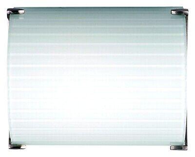 Philips Forecast Edge Bath Light / Wall Sconce F546236U Satin Nickel White Shade Nickel Wall Bath Light