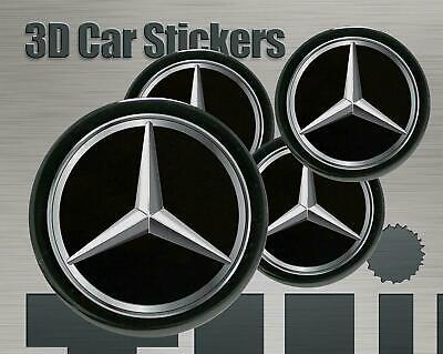 Aufkleber fur Radkappen Mercedes New Logo Imitation Mittelkappen 4 Stk 3D 60mm