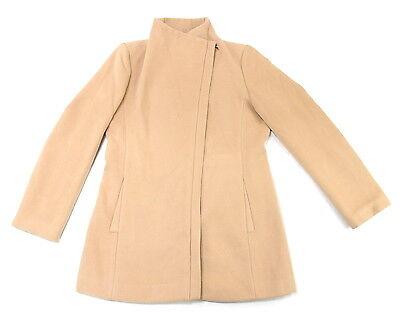Andrew Marc Womens Size Large Asymmetrical Fashion Coat, Lite Camel