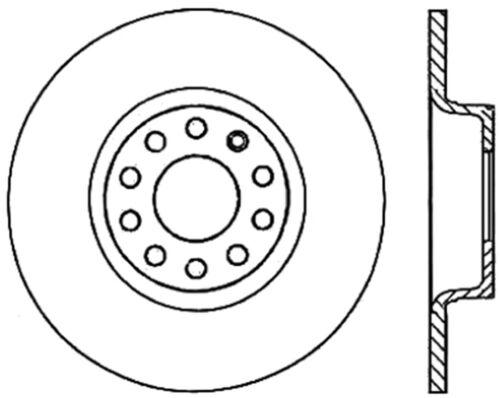 Disc Brake Rotor C Tek Standard Rear Centric Fits 05 11 Audi A6