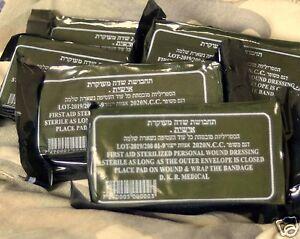 LOT-10-dressingTrauma-Bandage-Field-Emergency-IFAK-Israeli-Army-2019-IDF-NIB-emt