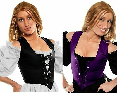 RENAISSANCE DRESS-UP VICTORIAN COSTUME MEDIEVAL PIRATE WENCH CORSET BODICE #Rp2X (Pirate Dress Up)