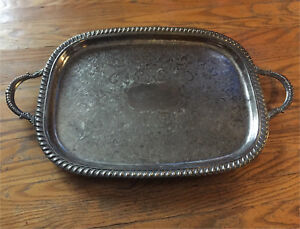 Silver plated Viking Plate / Serving tray