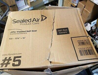 Jiffy Mailer Padded Self-seal Mailers - Padded - 5 10.50 X 16 -box 0f 100