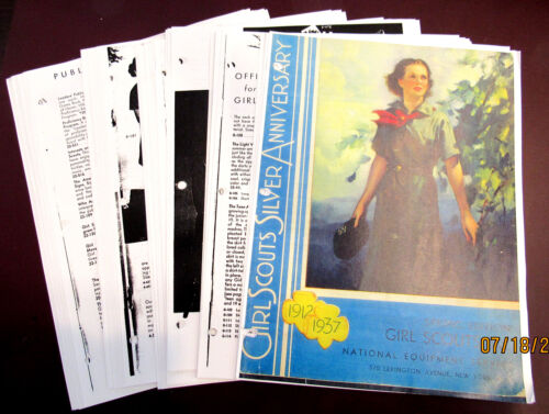 CATALOG Girl Scout PHOTOCOPY 1937 25th Anniversary, 50 Sturdy Pages Combine Ship