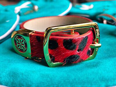 Rustic Cuff Red Leopard Wide Meagen Leather Wrap RC Bracelet