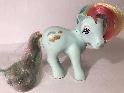 My Little Pony Blue Rainbow (Vintage My Little Pony Rainbow Ponies Sunlight Glitter Figure 1983 MLP G1)