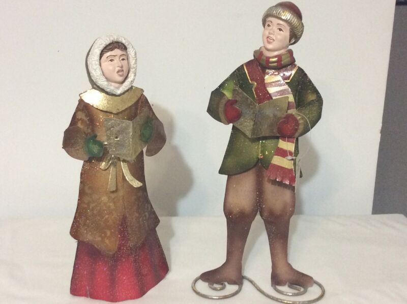 Raz Imports Christmas Carolers Metal Him &her