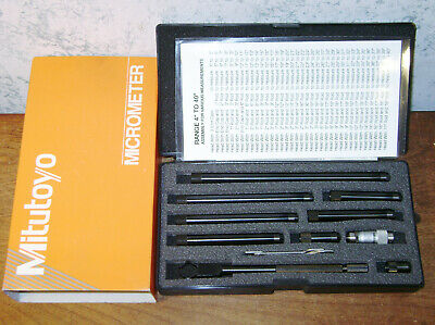 Mitutoyo Tubular Inside Micrometer Set No 139-201 - 1 12-12 Inches - Lotd