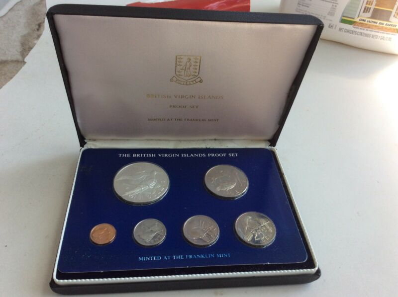 1978 British Virgin Islands 6 Coin Proof Set Incl $1 Sterling