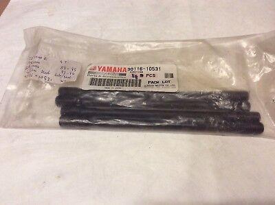<em>YAMAHA</em> FZR1000 GTS1000 YZF1000 CYLINDER BOLT STUD SET OF 4 90116 10531