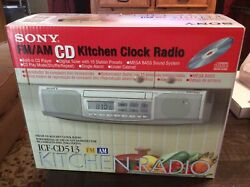 Sony ICF-CD513 Under Cabinet Counter Clock Radio AM FM CD Player NEW IN PACKAGE!