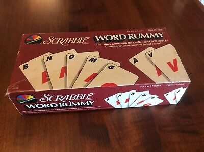 1987 SCRABBLE WORD RUMMY Vintage Original Board Game Selchow & Righter