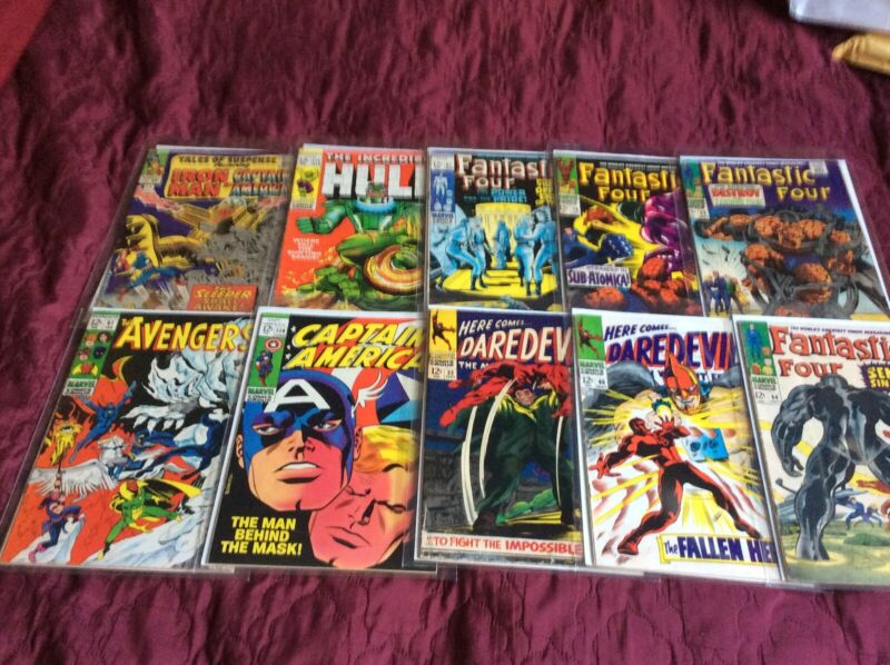 10 Marvel comic books silver age very nice lot All 12 Cent issues